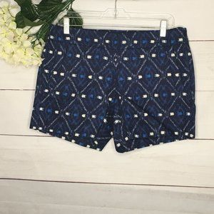 J. Crew Factory  sz 6 Navy Geometric Shorts